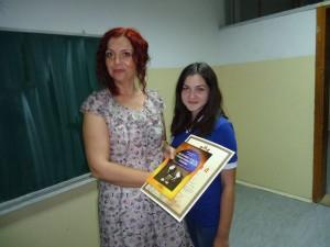Jelena Keljac, 2. mesto na Republickom takmicenju na dodeli nagrada