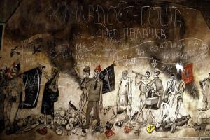 Krsto Hegedusic-freska iz memorijalnog centra TJENTISTE